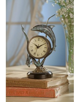 Table Clock - #33019 Dolphin