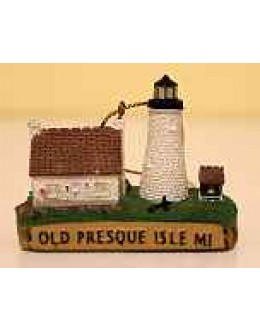 119M Old Presque Isle, MI - Lighthouse Magnet - Retired