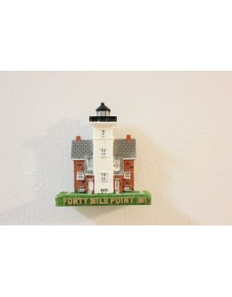 289M Forty Mile Point, Mi - Lighthouse Magnet