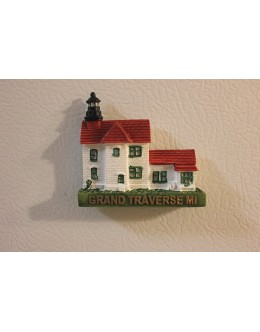 123M Grand Traverse, MI - Lighthouse Magnet - Retired