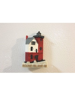 027M Round Island, MI - Lighthouse Magnet