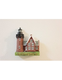 096M Block Island, RI - Lighthouse Magnet