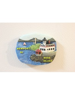 272MRI Rose Island, RI - Lighthouse Magnet - Limited Edition - Retiring Soon