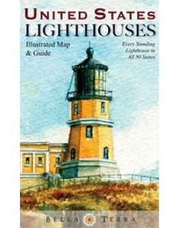 L10080 United States Lighthouses: Illustrated Map & Guide