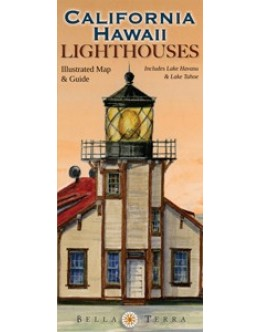 L10010 California & Hawaii Lighthouses: Illustrated Map & Guide