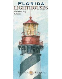 L10020 Florida Lighthouses: Illustrated Map & Guide