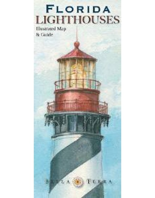 Florida Lighthouses Map.Florida Lighthouses Illustrated Map Guide