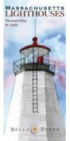L10040 Massachusetts Lighthouses: Illustrated Map & Guide