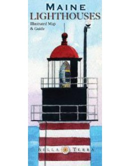 L10030 Maine Lighthouses: Illustrated Map & Guide