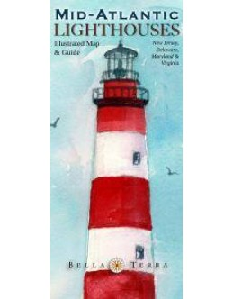 L10050 Mid-Atlantic Lighthouses: Illustrated Map & Guide