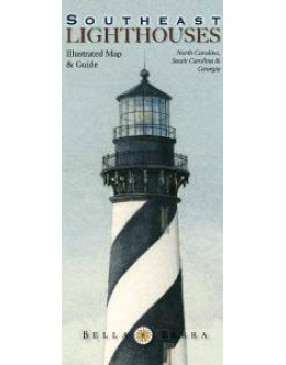 L10070 Southeast Lighthouses: Illustrated Map & Guide
