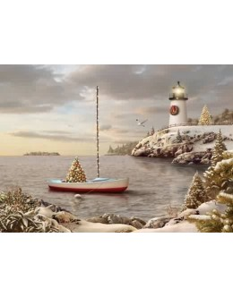Lighthouse Christmas Cards & Nautical Christmas Cards - Holiday ...