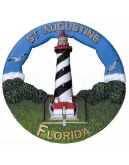 133RO St. Augustine, FL Lighthouse Round Ornament