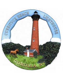 210RO Currituck, NC Lighthouse Round Ornament