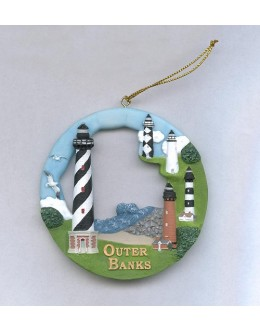 SI017 Outer Banks, NC Lighthouse Round Ornament