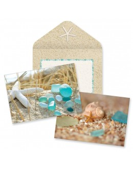 Boxed Note Cards - Beach Walk Sea Glass & Shells assortment
