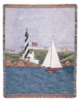 Coastal Breeze Mid-Size Tapestry Throw