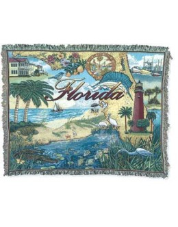 State of Florida Mid-Size Tapestry Throw