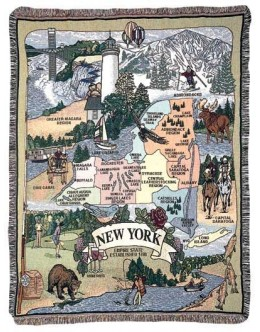 State of New York Mid-Size Tapestry Throw