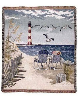 Seaside Escape Mid-Size Tapestry Throw