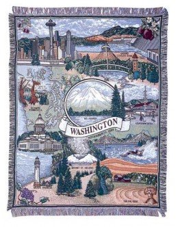 State of Washington Mid-Size Tapestry Throw