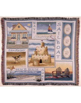 Sea and Shore Mid-Size Tapestry Throw