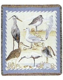 Shore Birds Mid-Size Tapestry Throw