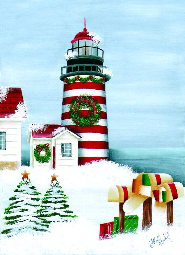 Lighthouse Christmas Cards